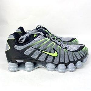 Nike Shox TL Wolf Grey Lime Green Black Running Sh